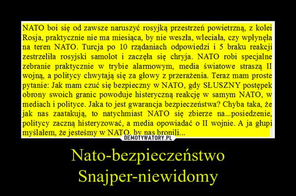 Nato-bezpieczeństwoSnajper-niewidomy –