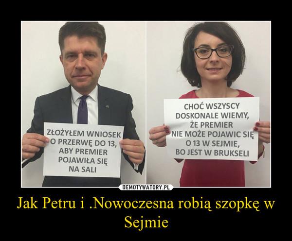 Jak Petru i .Nowoczesna robią szopkę w Sejmie –
