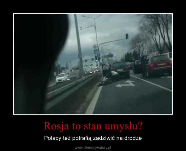 Rosja to stan umysłu? – Polacy też potrafią zadziwić na drodze