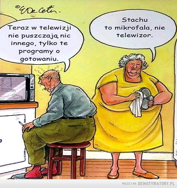 A w telewizji... –