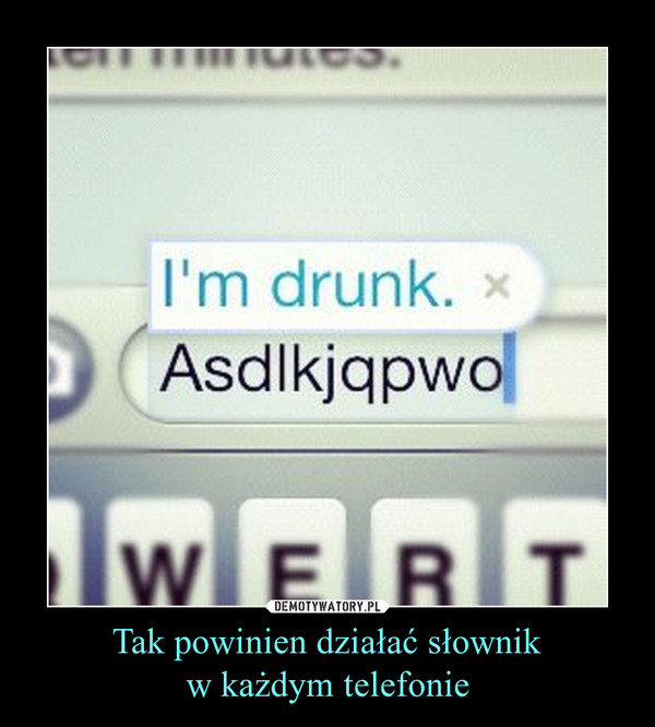 Tak powinien działać słownikw każdym telefonie –