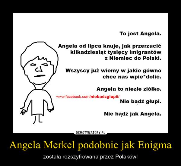 Angela Merkel podobnie jak Enigma – została rozszyfrowana przez Polaków!