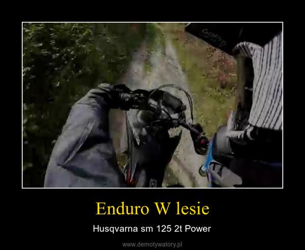Enduro W lesie – Husqvarna sm 125 2t Power