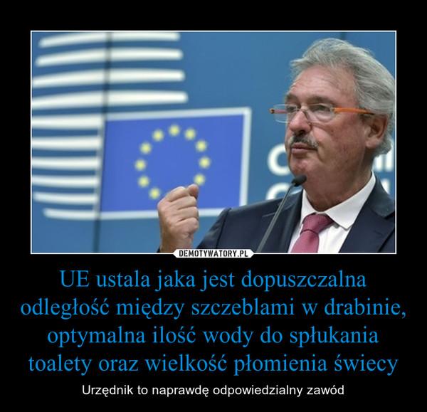 UE ustala jaka jest dopuszczalna odległość między szczeblami w drabinie, optymalna ilość wody do spłukania toalety oraz wielkość płomienia świecy – Urzędnik to naprawdę odpowiedzialny zawód