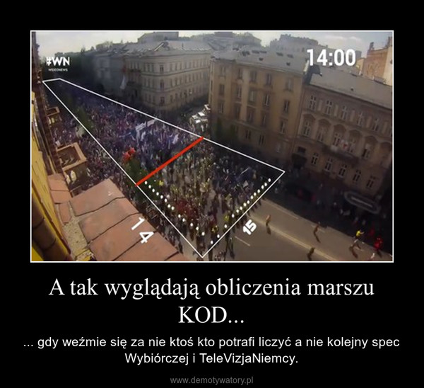 A tak wyglądają obliczenia marszu KOD... – ... gdy weźmie się za nie ktoś kto potrafi liczyć a nie kolejny spec Wybiórczej i TeleVizjaNiemcy.