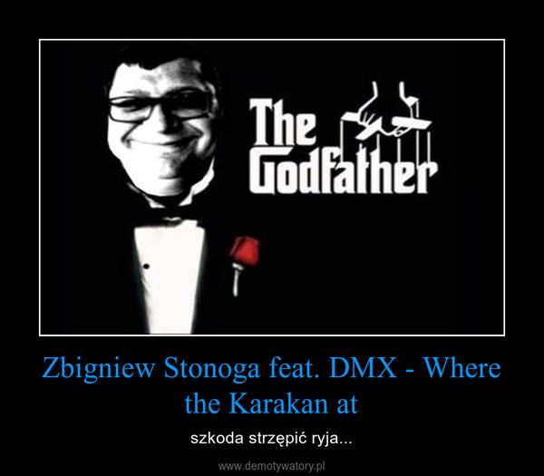Zbigniew Stonoga feat. DMX - Where the Karakan at – szkoda strzępić ryja...
