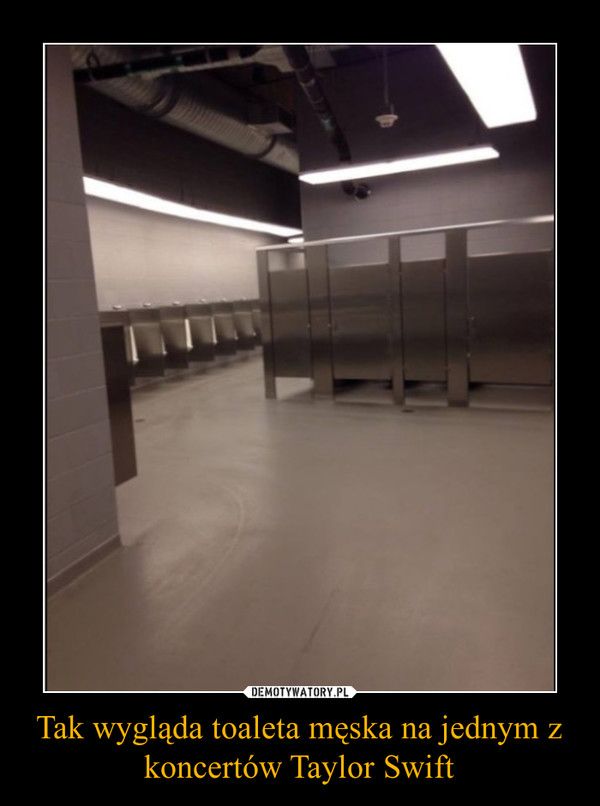 Tak wygląda toaleta męska na jednym z koncertów Taylor Swift –