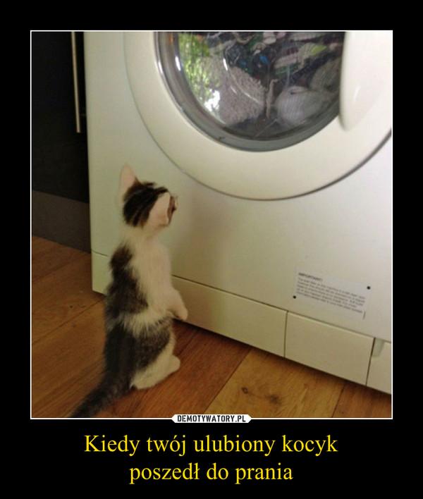 Kiedy twój ulubiony kocykposzedł do prania –
