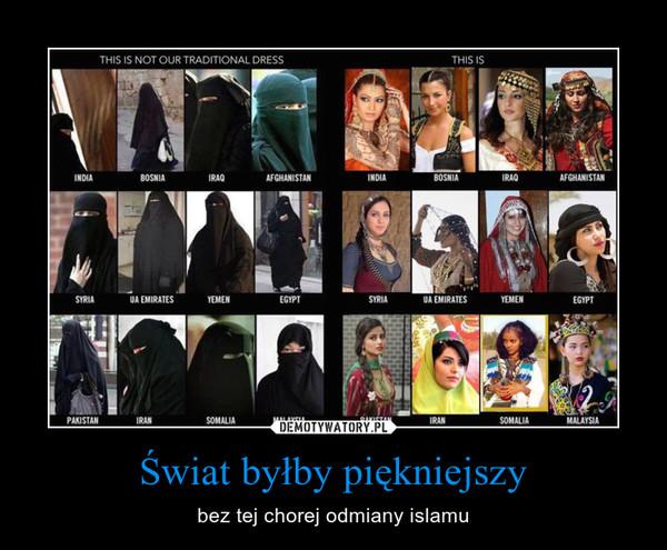 Świat byłby piękniejszy – bez tej chorej odmiany islamu