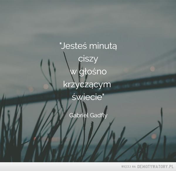 Jesteś minutą ciszy... –