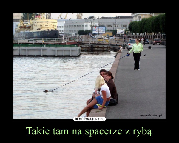 Takie tam na spacerze z rybą –