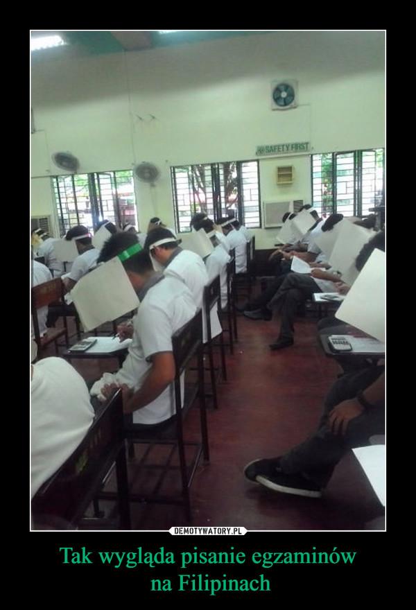 Tak wygląda pisanie egzaminów na Filipinach –