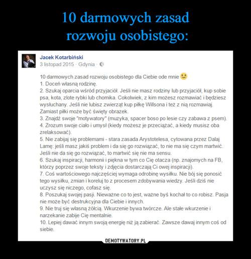 10 darmowych zasad  rozwoju osobistego: