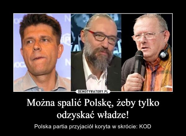 Można spalić Polskę, żeby tylko odzyskać władze! – Polska partia przyjaciół koryta w skrócie: KOD
