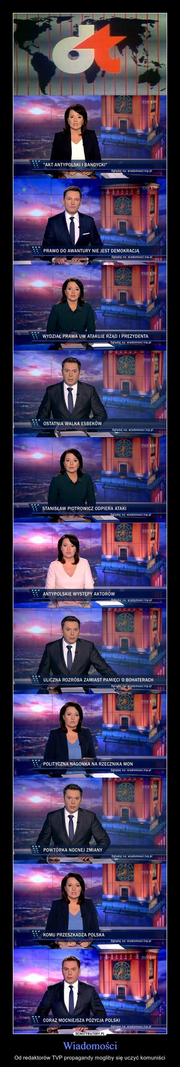 Wiadomości – Od redaktorów TVP propagandy mogliby się uczyć komuniści