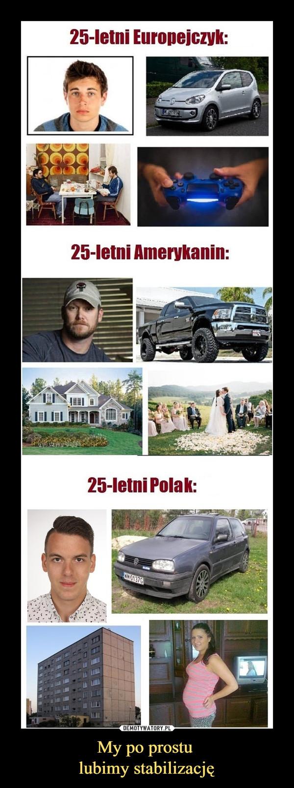 My po prostu lubimy stabilizację –  25-letni Europejczyk:25-letni Amerykanin:25-letni Polak