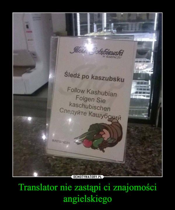 Translator nie zastąpi ci znajomości angielskiego –
