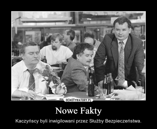 Nowe Fakty – Kaczyńscy byli inwigilowani przez Służby Bezpieczeństwa.