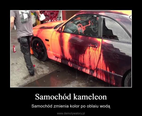 Samochód kameleon – Samochód zmienia kolor po oblaiu wodą