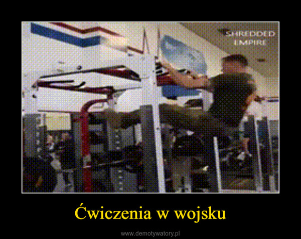 Ćwiczenia w wojsku –