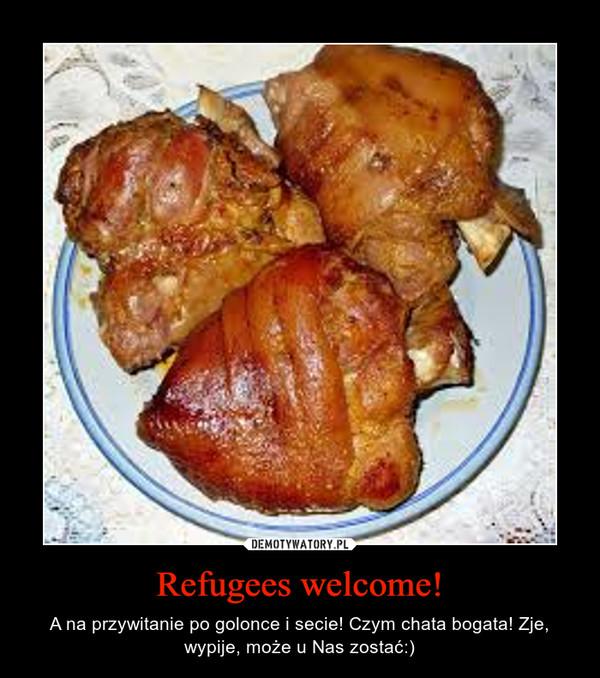 Refugees welcome! – A na przywitanie po golonce i secie! Czym chata bogata! Zje, wypije, może u Nas zostać:)