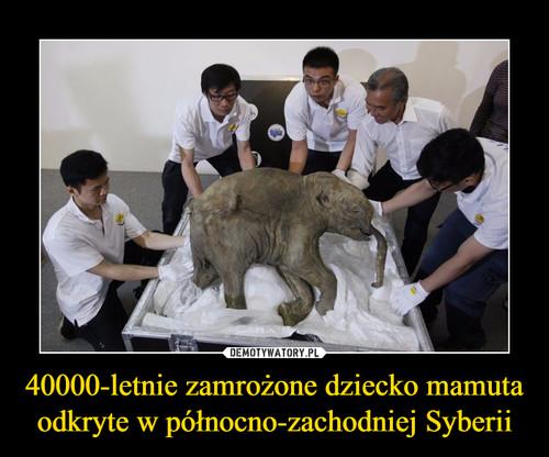 40000-letnie zamrożone dziecko mamuta odkryte w północno-zachodniej Syberii