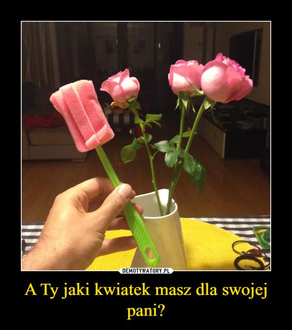 A Ty jaki kwiatek masz dla swojej pani? –