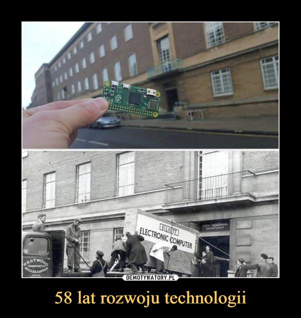 58 lat rozwoju technologii –