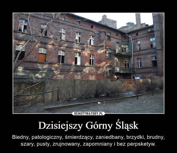 Dzisiejszy Górny Śląsk – Biedny, patologiczny, śmierdzący, zaniedbany, brzydki, brudny, szary, pusty, zrujnowany, zapomniany i bez perpsketyw.
