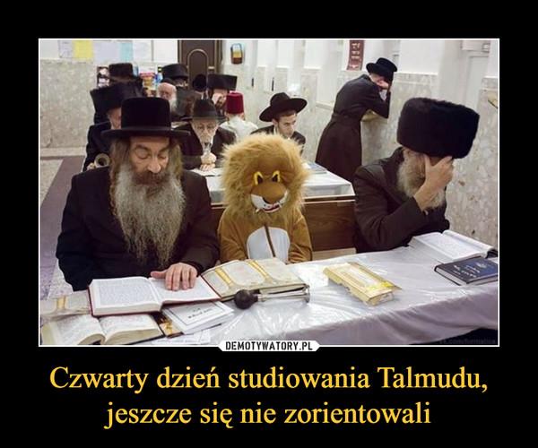 Czwarty dzień studiowania Talmudu, jeszcze się nie zorientowali –