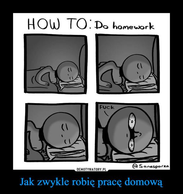 Jak zwykle robię pracę domową –