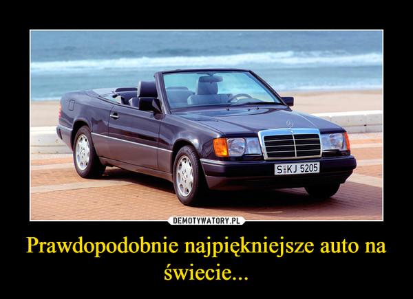 Prawdopodobnie najpiękniejsze auto na świecie... –
