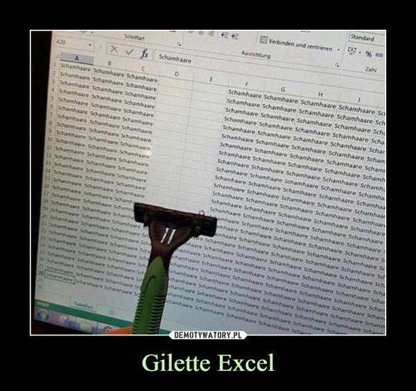 Gilette Excel –