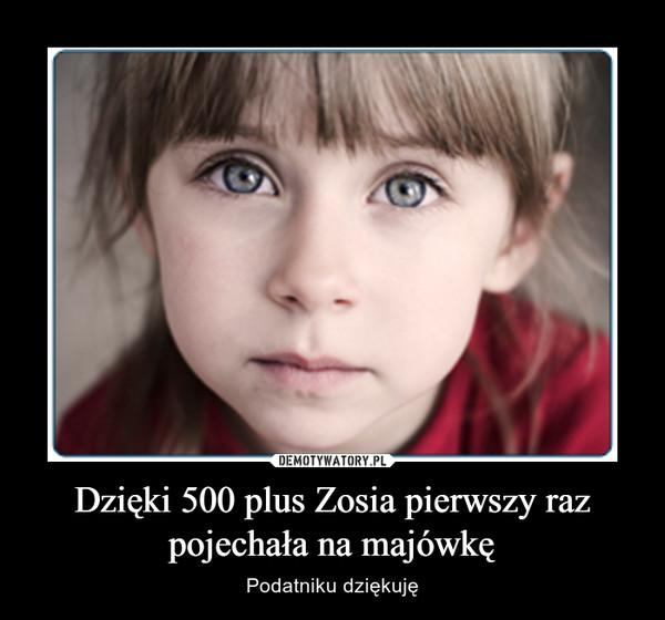 Dzięki 500 plus Zosia pierwszy raz pojechała na majówkę – Podatniku dziękuję