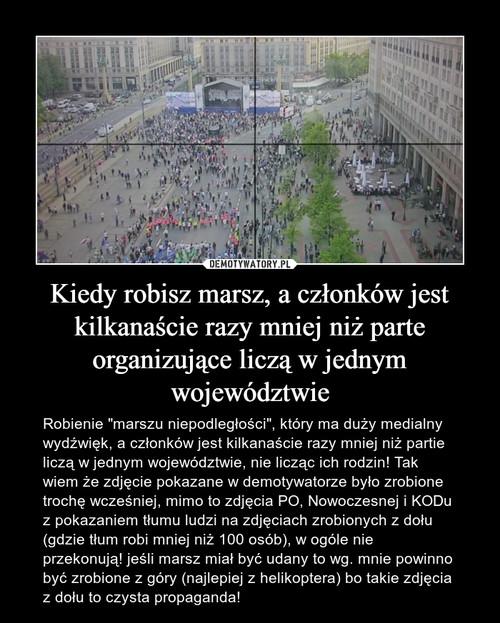 Kiedy robisz marsz, a członków jest kilkanaście razy mniej niż parte organizujące liczą w jednym województwie