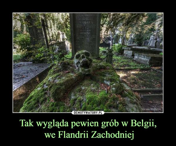 Tak wygląda pewien grób w Belgii, we Flandrii Zachodniej –