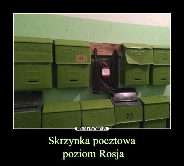 Skrzynka pocztowa poziom Rosja –