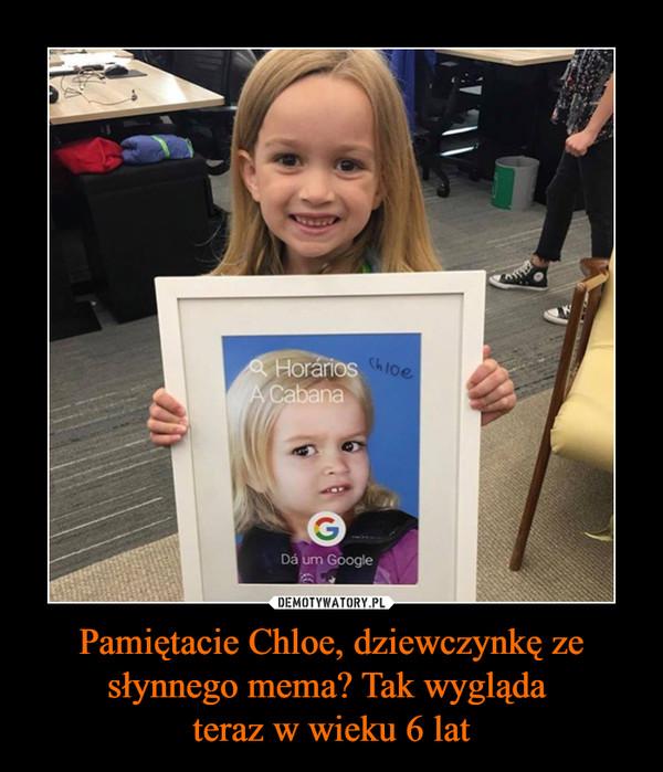 Pamiętacie Chloe, dziewczynkę ze słynnego mema? Tak wygląda teraz w wieku 6 lat –
