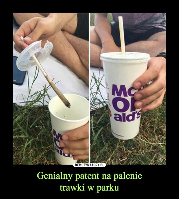 Genialny patent na palenietrawki w parku –