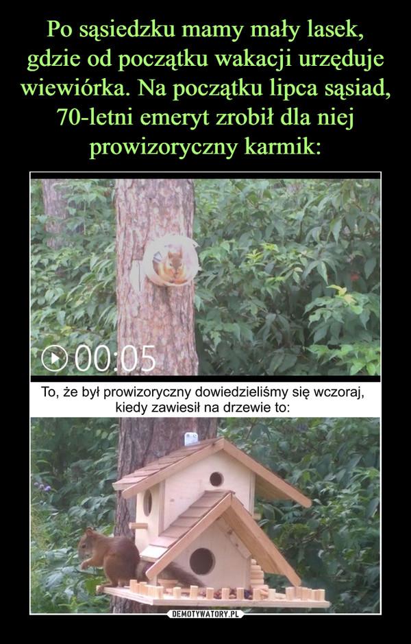 –  To, że był prowizoryczny dowiedzieliśmy się wczoraj, kiedy zawiesił na drzewie to: