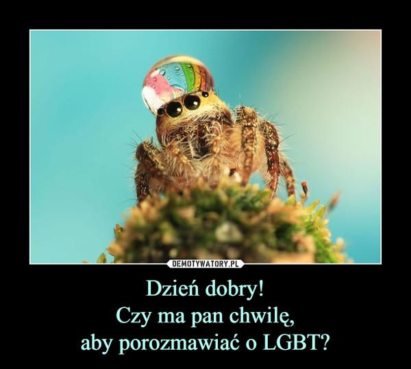 Dzień dobry!Czy ma pan chwilę,aby porozmawiać o LGBT? –