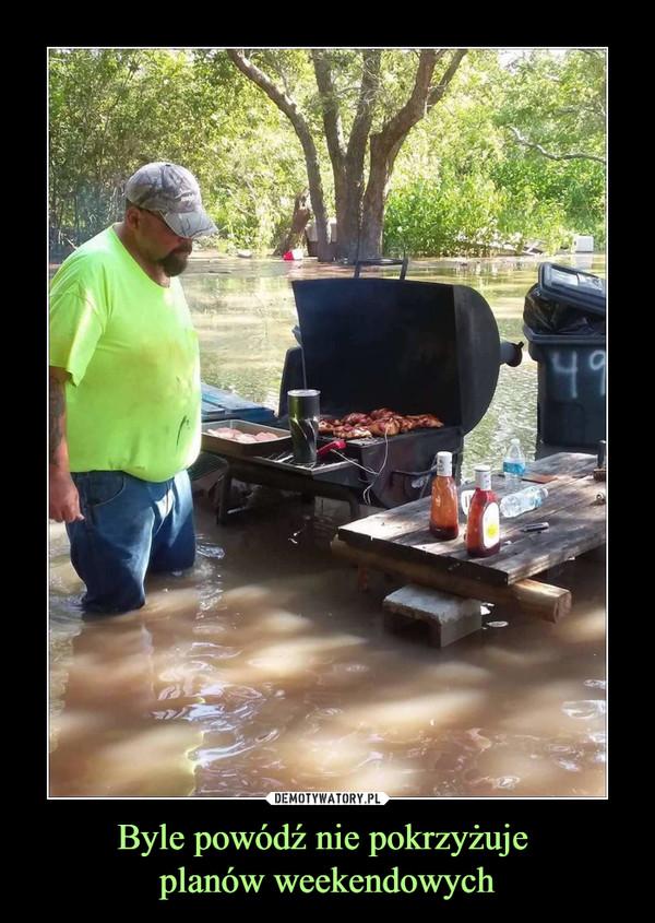 Byle powódź nie pokrzyżuje planów weekendowych –