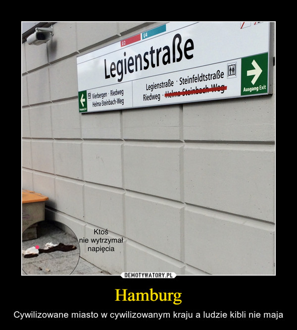 Hamburg – Cywilizowane miasto w cywilizowanym kraju a ludzie kibli nie maja