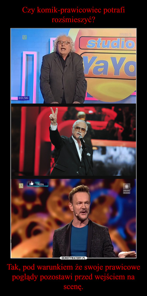 Czy komik-prawicowiec potrafi rozśmieszyć? Tak, pod warunkiem że swoje prawicowe poglądy pozostawi przed wejściem na scenę.