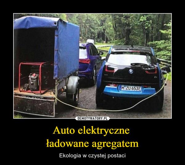 Auto elektryczne ładowane agregatem – Ekologia w czystej postaci