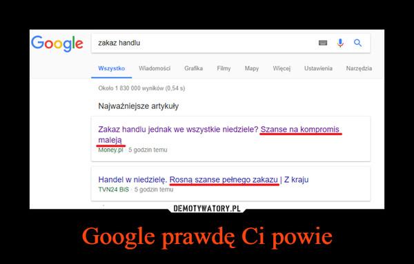 Google prawdę Ci powie –
