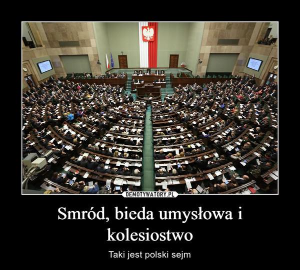 Smród, bieda umysłowa i kolesiostwo – Taki jest polski sejm