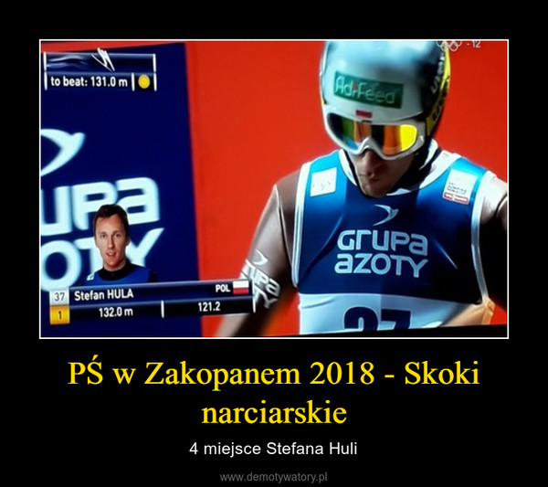 PŚ w Zakopanem 2018 - Skoki narciarskie – 4 miejsce Stefana Huli