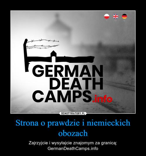Strona o prawdzie i niemieckich obozach