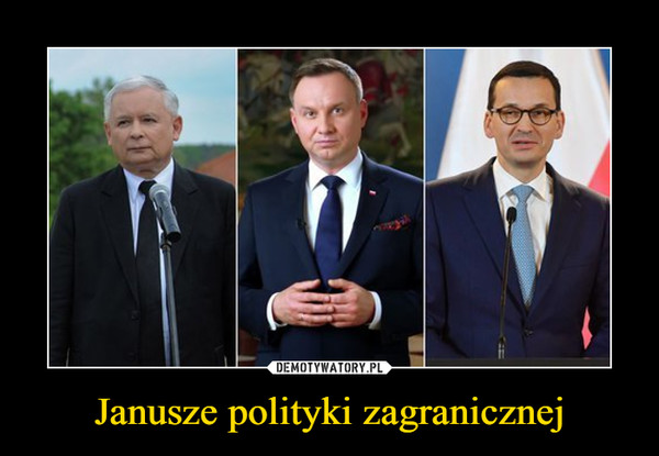 Janusze polityki zagranicznej –